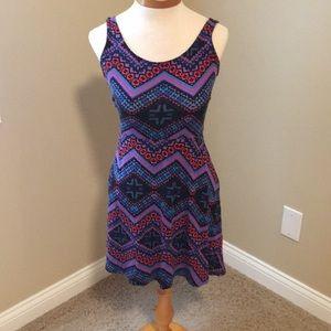 EXPRESS Tribal print Skater dress